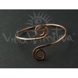 Pulsera cobre espirales