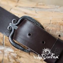 Cinturón de cuero con...